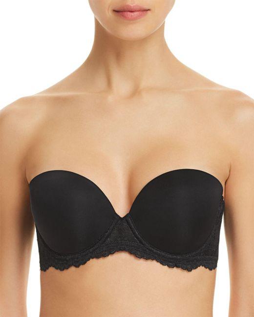 On Gossamer - Black Beautifully Basic Strapless Multi-way Bra - Lyst