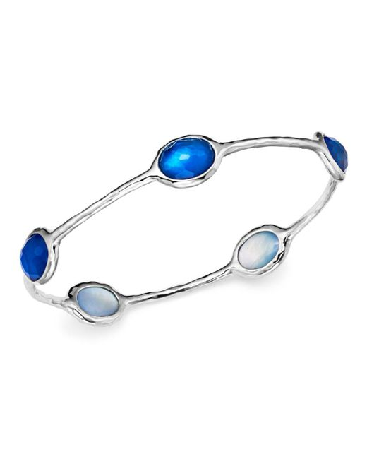 Ippolita - Multicolor Sterling Silver Rock Candy® Wonderland 5-stone Bangle In Ultramarine - Lyst