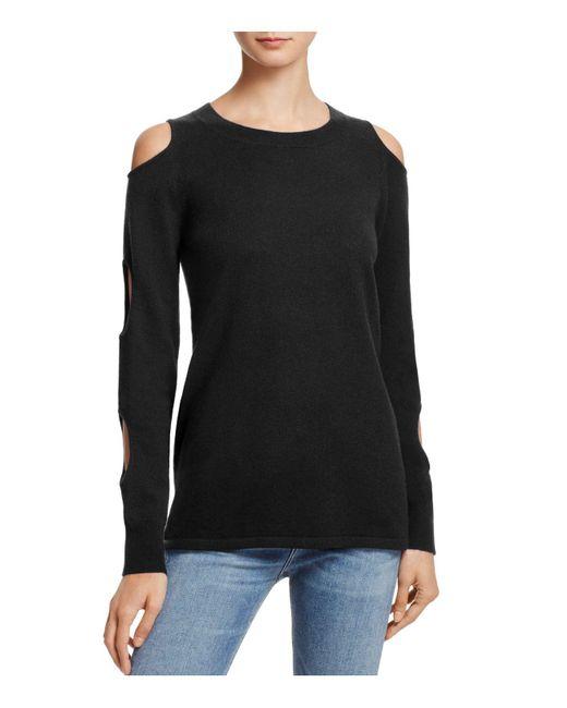 Aqua | Black Cashmere Circle Arm Cutout Sweater | Lyst