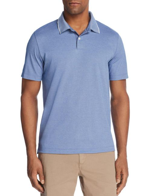 Theory - Blue Standard Tipped Regular Fit Polo Shirt for Men - Lyst