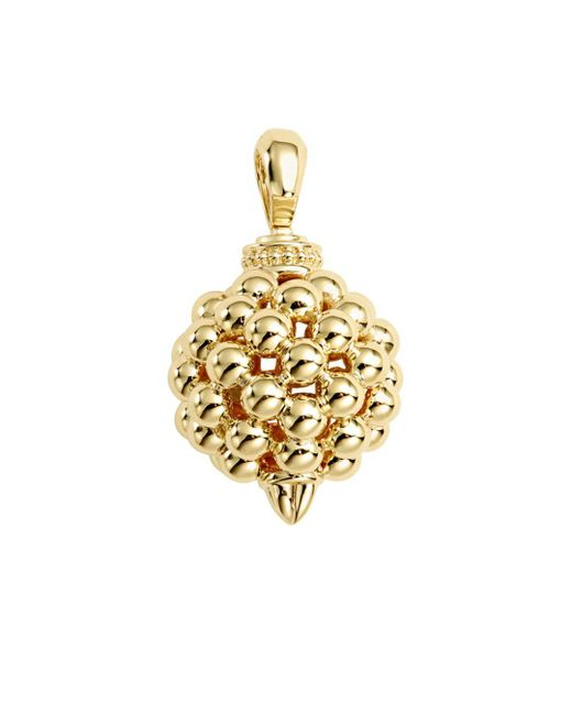 Lagos - Metallic 18k Caviar Gold 25mm Lattice Ball Enhancer - Lyst