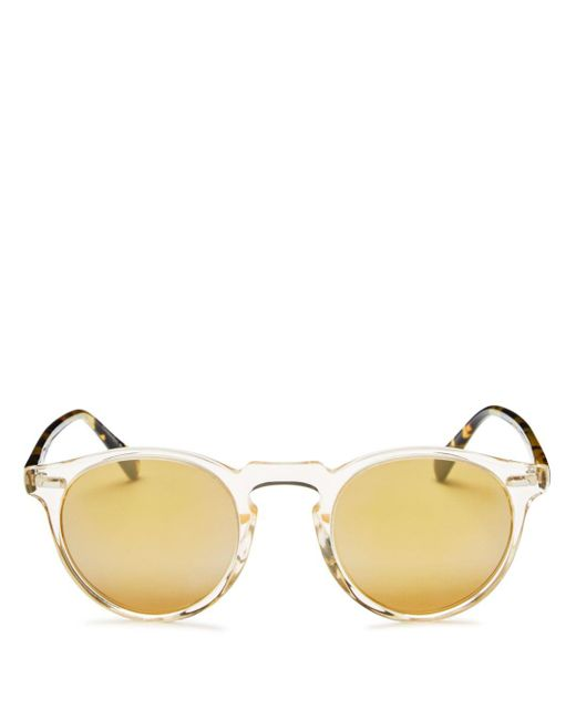 Oliver Peoples - Yellow 47mm for Men - Lyst