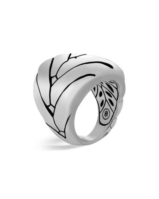John Hardy - Metallic Sterling Silver Modern Chain Large Ring - Lyst