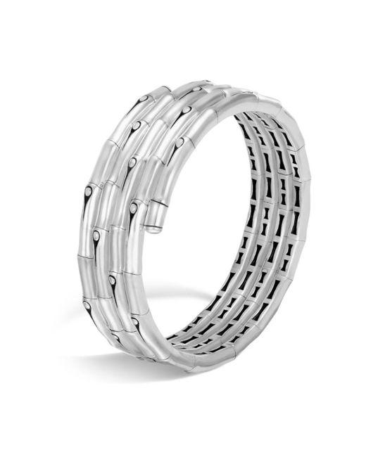 John Hardy - Metallic Sterling Silver Bamboo Four - Coil Bracelet - Lyst