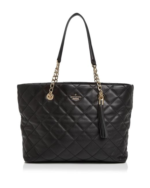 Kate Spade | Black Emerson Place Priya Quilted Leather Tote | Lyst