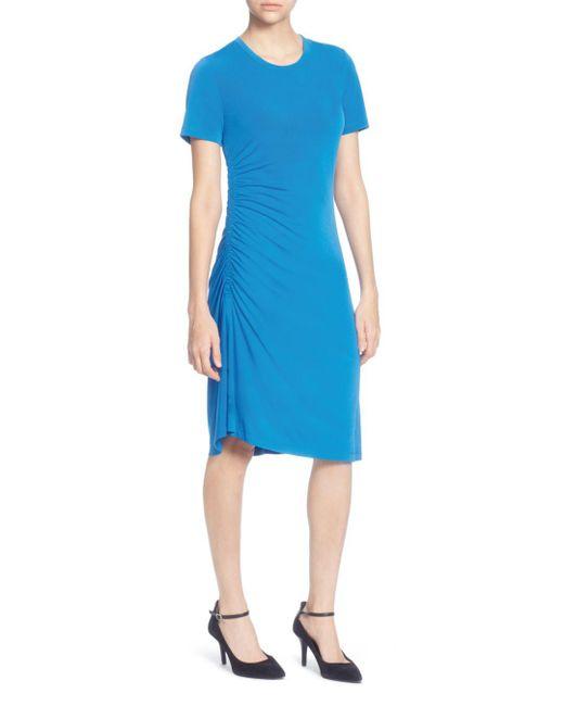 Catherine Malandrino - Blue Nan Ruched Dress - Lyst