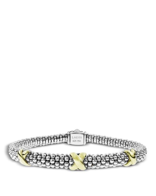 Lagos - Metallic 18k Gold And Sterling Silver Rope Bracelet - Lyst