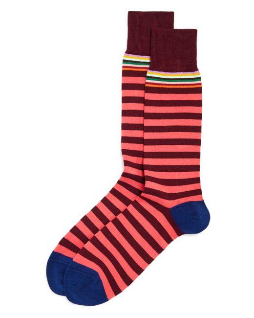 Paul Smith - Red Multi-stripe Socks for Men - Lyst