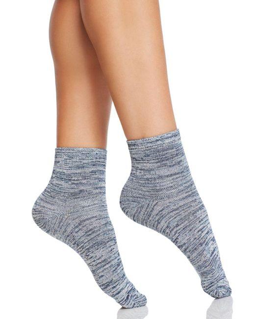 Hue - Blue Super Soft Cropped Socks - Lyst