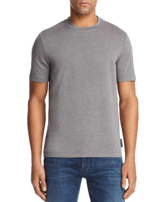 Emporio Armani - Blue Patterned Tee for Men - Lyst