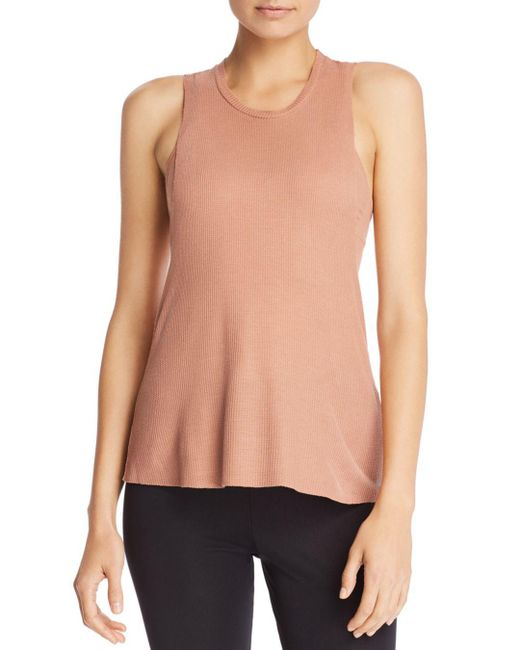 Alo Yoga - Multicolor Flow & Go Waffle-knit Cropped Tank - Lyst