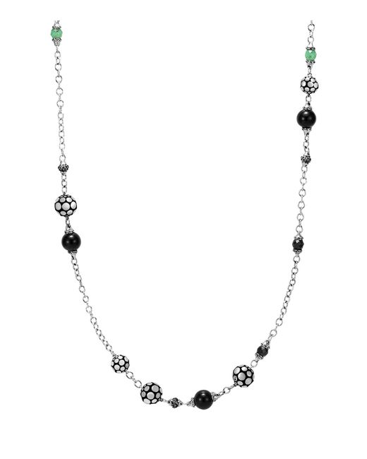 John Hardy - Black Sapphire And Obsidian - Lyst