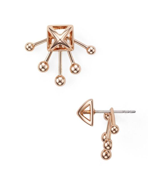 Rebecca Minkoff - Metallic Pyramid Fan Back Ear Jackets - Lyst