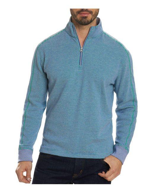 Robert Graham | Blue Easy Rider Quarter-zip Pullover for Men | Lyst