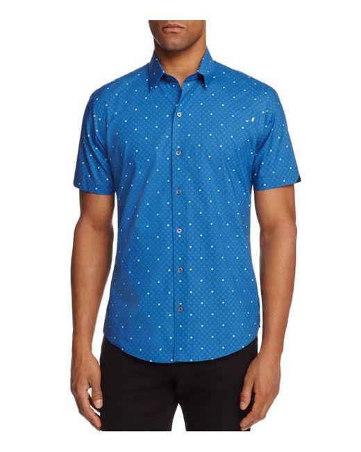 Zachary Prell   Blue Souza Medallion Dot Regular Fit Button-down Shirt for Men   Lyst