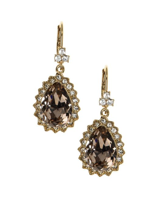 Marchesa | Metallic Pear Drop Earrings | Lyst