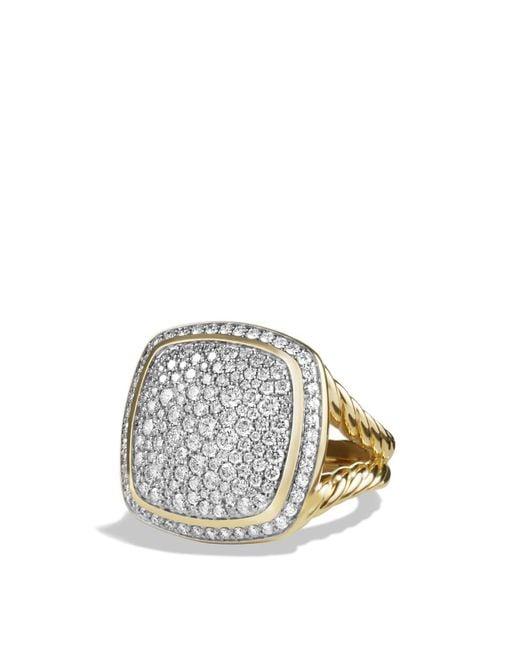David Yurman   Metallic Albion Ring With Diamonds In 18k Gold   Lyst