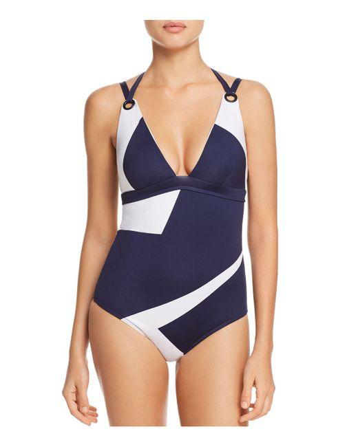 MEI L'ANGE - Blue Mya Mosaic One Piece Swimsuit - Lyst