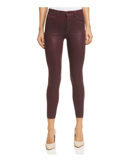 Joe's Jeans | Purple The Charlie Coated Ankle Skinny Jeans In Merlot | Lyst
