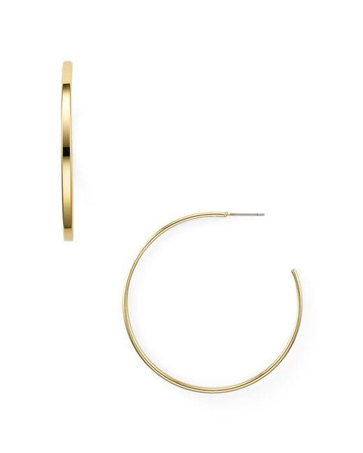 Aqua - Metallic Modern Thin Hoop Earrings - Lyst