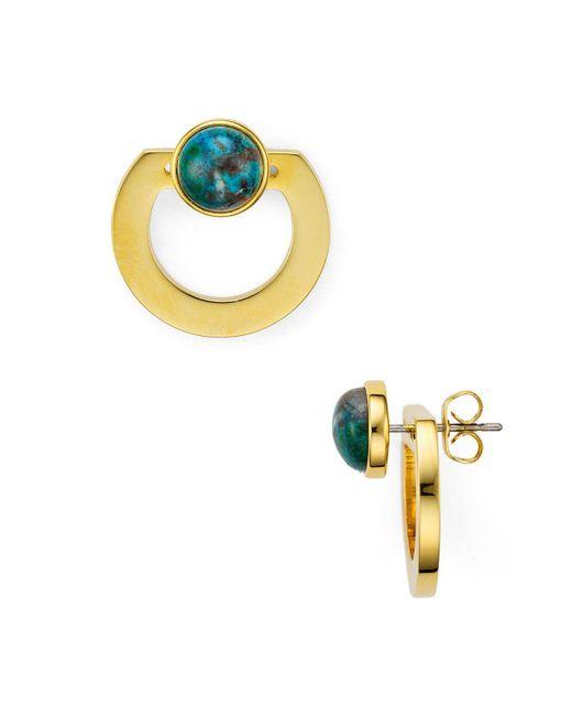 Vita Fede | Metallic Moneta Open Stone Front-back Earrings | Lyst