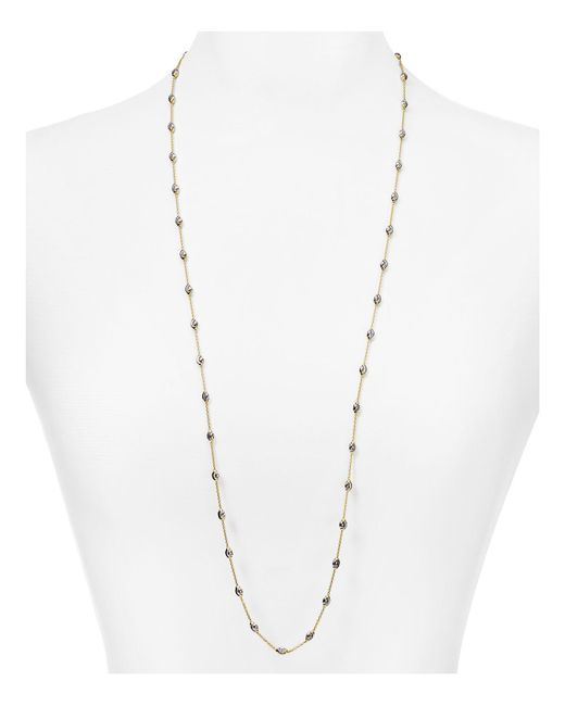 Officina Bernardi | Metallic Beaded Necklace, 36"