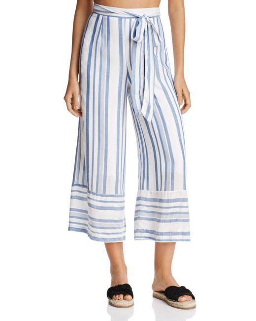 LOST AND WANDER - Blue Lost And Wonder Marina Cropped Straight-leg Pants - Lyst