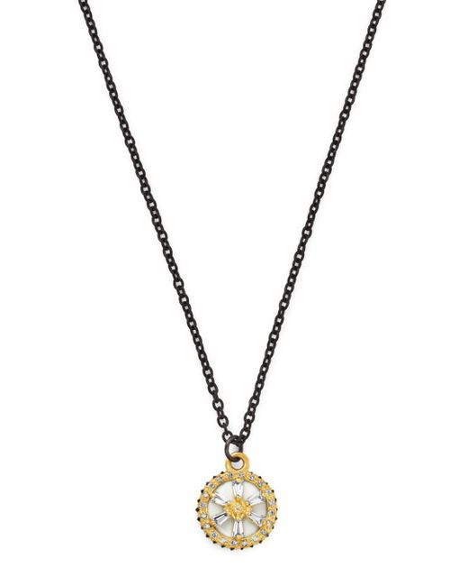 Armenta - Metallic Black Sapphire & Champagne Diamond Star Pendant Necklace - Lyst