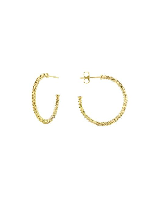 Lagos - Metallic 18k Gold Hoop Earrings - Lyst