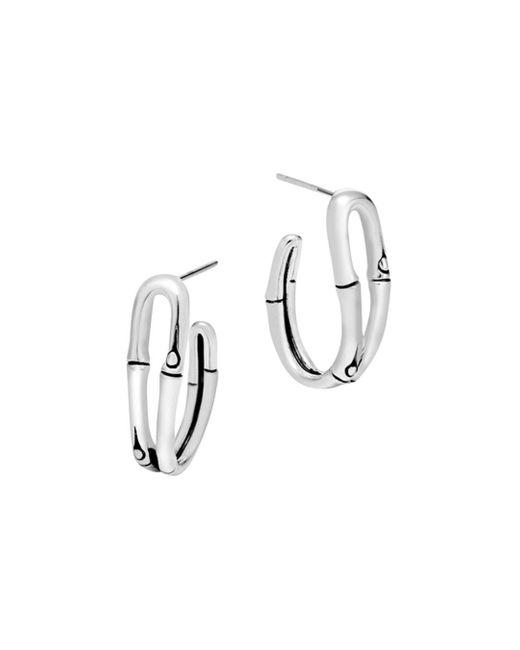 John Hardy - Metallic Bamboo Silver Small Hoop Earrings - Lyst