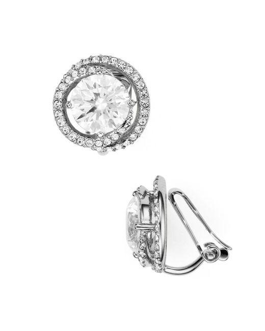 Nadri | Metallic Round Clip-on Earrings | Lyst