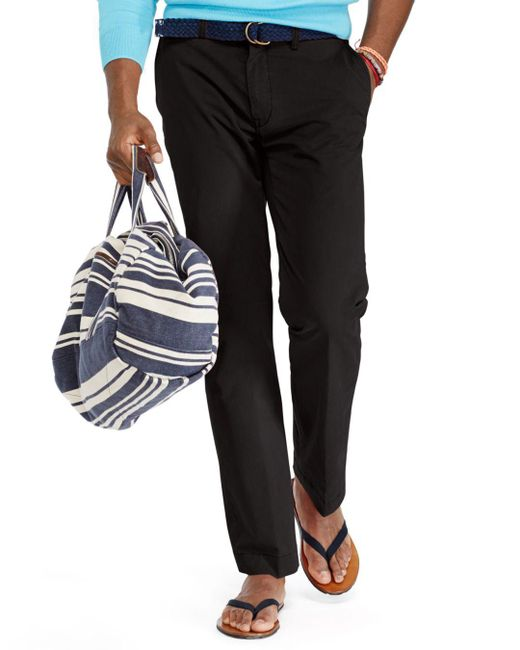 Polo Ralph Lauren - Black Stretch Classic Fit Chino Pants for Men - Lyst