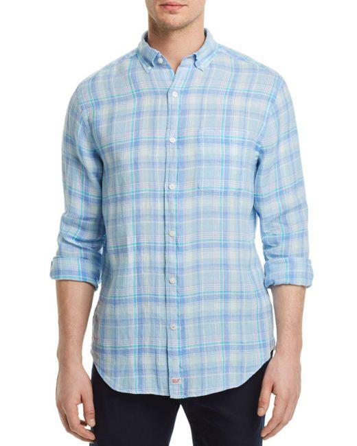 Vineyard Vines - Blue Moore's Island Plaid Regular Fit Button-down Shirt for Men - Lyst