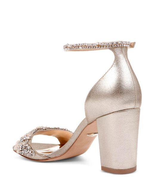 1788ae23943 ... Badgley Mischka - Multicolor Women s Finesse Ii Embellished Block Heel  Sandals ...
