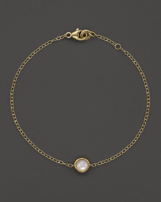 Ippolita - Metallic 18k Gold Mini-lollipop Bracelet In Clear Quartz - Lyst