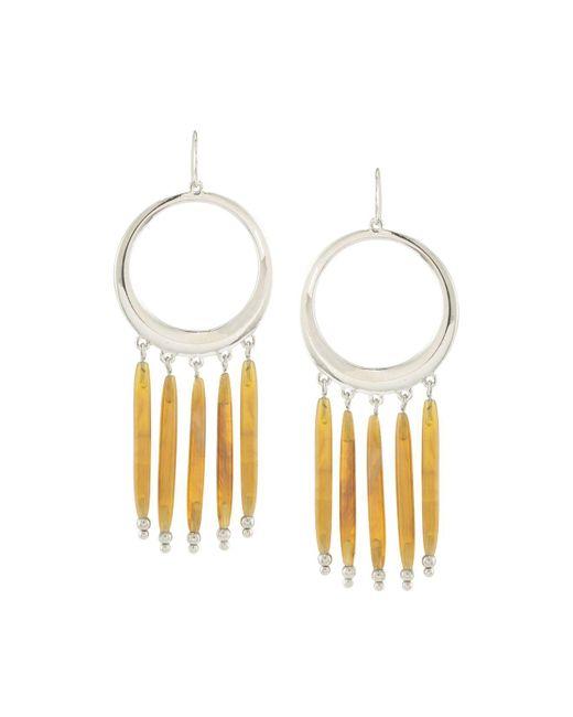 Ralph Lauren - Metallic Lauren Gypsy Hoop Drop Earrings - Lyst