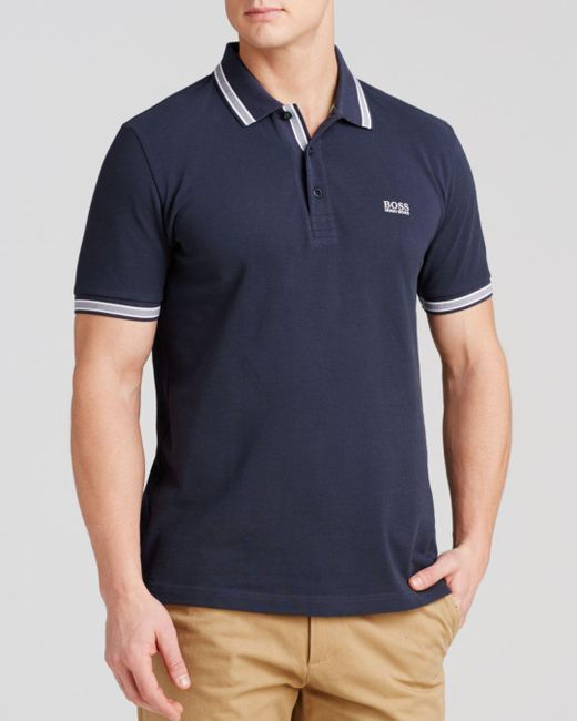 BOSS - Blue Paddy Polo - Regular Fit for Men - Lyst