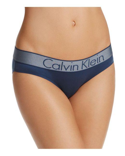 Calvin Klein   Blue Customized Stretch Bikini   Lyst