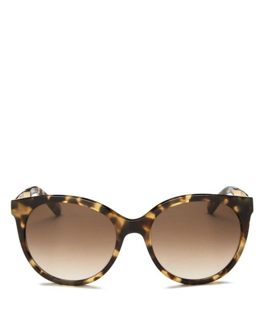 Kate Spade - Brown Women's Amaya Cat Eye Sunglasses - Lyst
