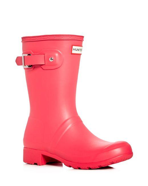 Hunter   Multicolor Women's Original Tour Packable Short Rain Boots   Lyst