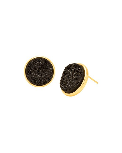 Gorjana | Black Astoria Drusy Large Stud Earrings | Lyst