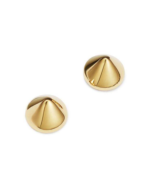 Moon & Meadow - Metallic Cone Spike Stud Earrings In 14k Yellow Gold - Lyst