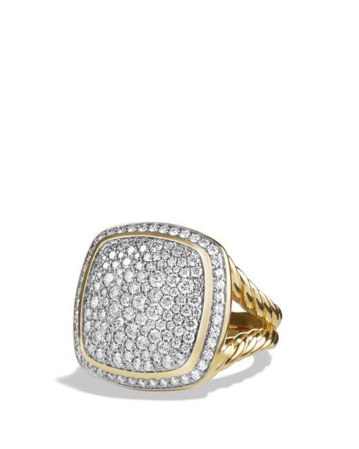 David Yurman - Metallic Albion® Ring With Diamonds In 18k Gold - Lyst