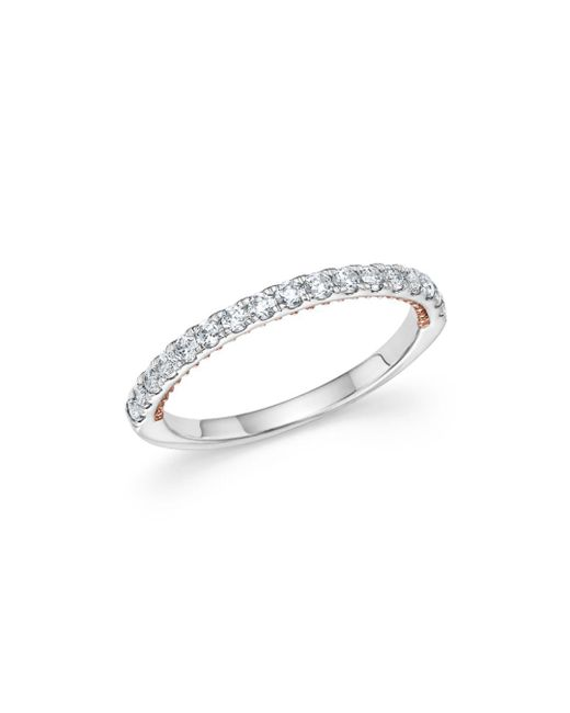 Bloomingdale's - Multicolor Diamond Ring In 14k White And Rose Gold, .35 Ct. T.w. - Lyst