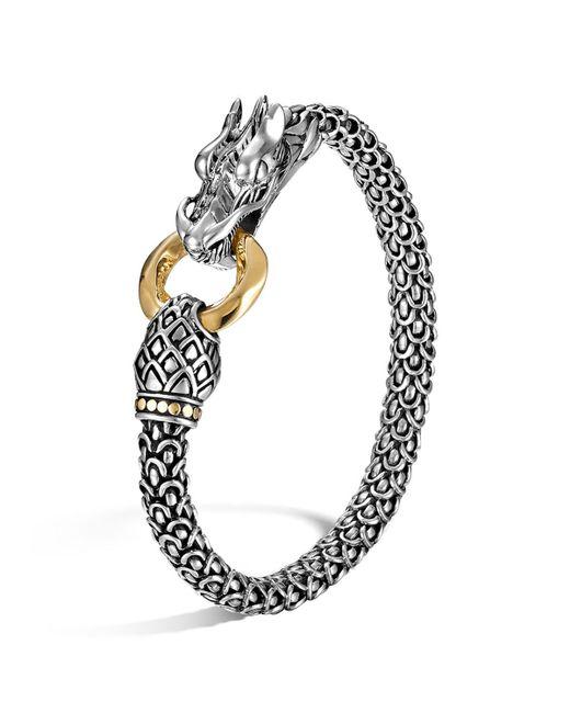 John Hardy | Metallic Sterling Silver & 18k Gold Naga Dragon Bracelet | Lyst