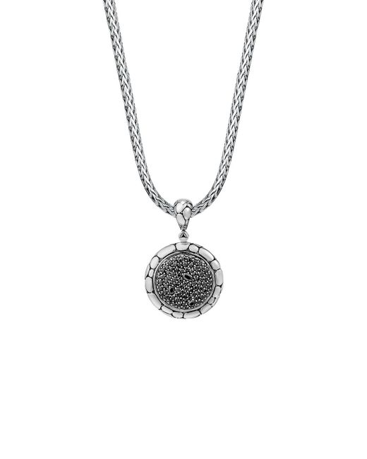 John Hardy | Sterling Silver Kali Lavafire Medium Round Enhancer With Black Sapphires | Lyst
