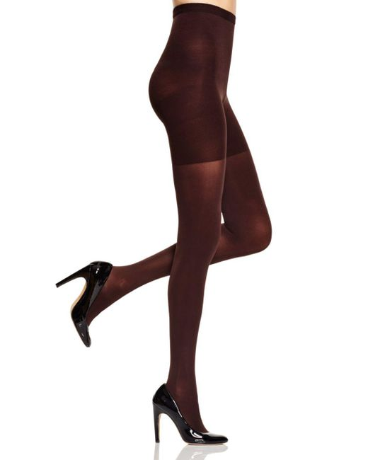 Spanx - Brown High-waisted Luxe Leg Tights - Lyst