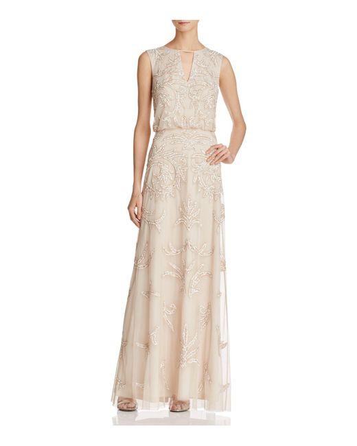 Aidan Mattox | Multicolor Embellished Blouson Gown | Lyst
