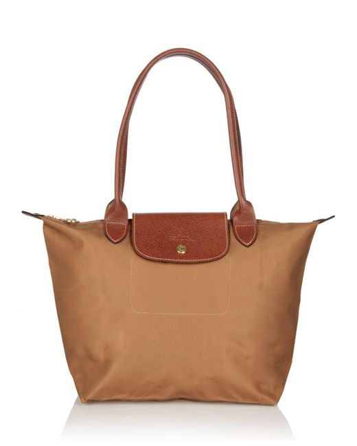Longchamp - Brown Le Pliage Medium Shoulder Tote - Lyst