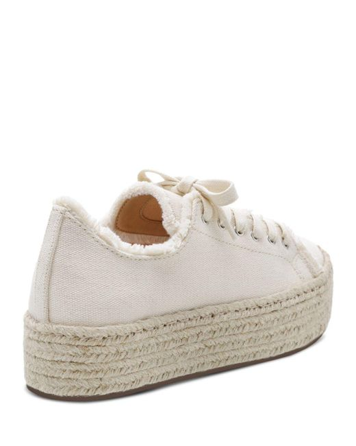 b415083eb5d7 Lyst - Schutz Women s Luana Espadrille Lace-up Sneakers in White